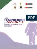 Libro Los Feminicidios y La Violencia Contra La Mujer en El Perú