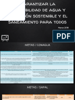 ODS6 Agua y Saneamiento