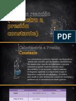 Calor de Reaccion (Calorimetro a Presion Constante)