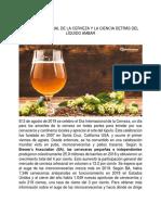 Día Internacional de La Cerveza y La Ciencia Detrás Del Líquido Ambar