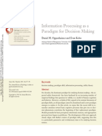 Information Processing as a Paradigm for Decision Making