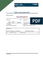 PMO-1.10 Surveillance Plan
