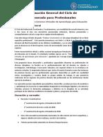 Informacion General Ciclo Profesorado 2019-2020