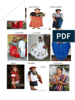 Trajes Tipicos de Los de Partamentos de Guateamala