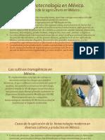 La Agrobiotecnología en México