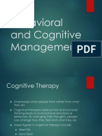 Behavioral and Cognitive Management - S