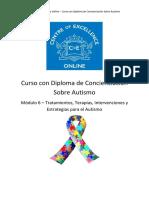 Concienciación Sobre Autismo-Módulo 6