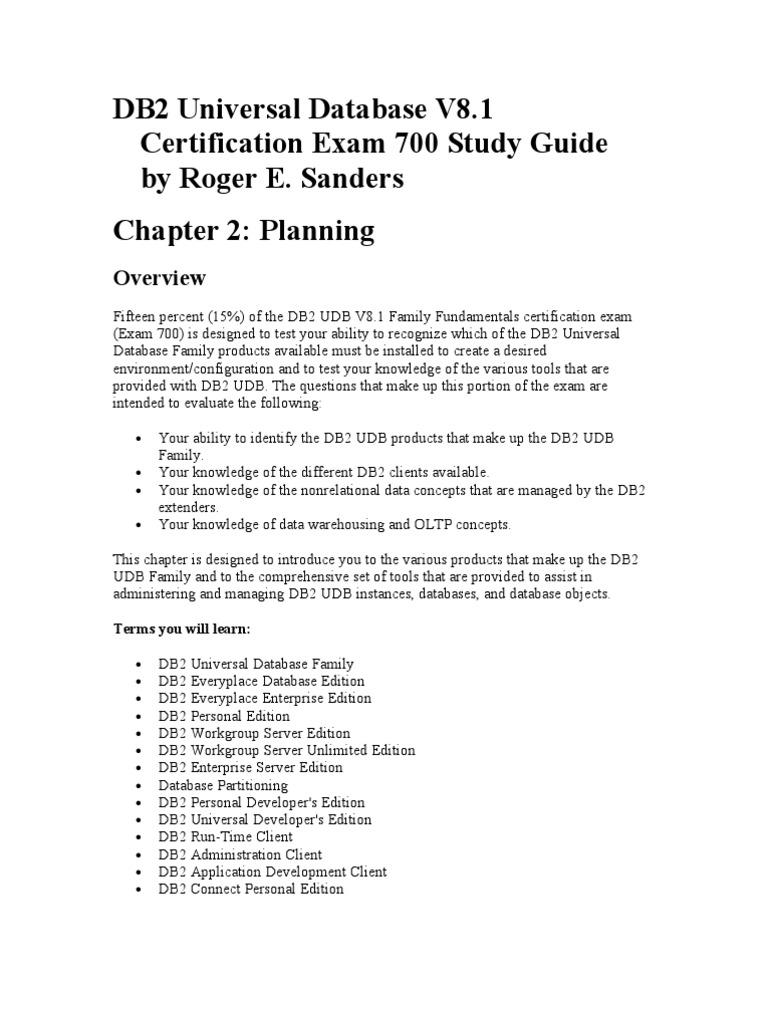 1 Planning | Ibm Db2 (44 views)