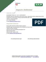 Estudio de Impacto Ambiental Resolución 538-99