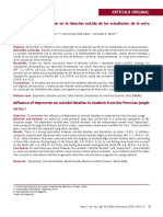 Influencia de La Depresión en La Ideación Suicida de Los Estudiantes de La Selva