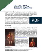 64th Regt - Loudon's Highlanders Tartan