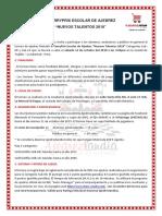 Bases II TorryPrix Escolar de Ajedrez 2019