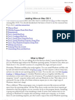 Installing Wine on Mac OS X