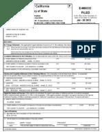 Three Kings of Queens Inc 2012 CA Adams Honig Registration