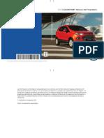 Manual Usuario Ford Ecosport 2016