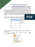 Membuat Penomoran Halaman Berbeda Dalam Satu File Ms Word