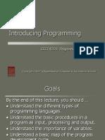 n 201 Introducing Programming