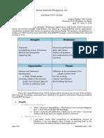 Como Swot Analysis 2010