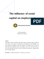 The influence of socia capital on employment.pdf