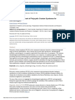 Update on Management of Polycystic Ovarian Syndrome for Dermatologists