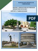 6210 Plan de Prevencion y Reduccion Del Riesgo de Desastres 2018 2021 Distrito Tambogrande