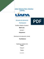 TAREA 5 SEMINARIO DE EDUCACION INICIAL