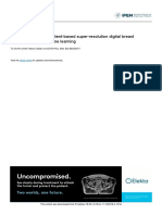Development of 3D Patient-based Super-resolution Digital Breast Phantoms Using ML