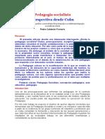 Pedagogia socialista Perspectiva desde Cuba. Pedro Calderón Fornaris