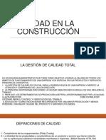 CALIDAD EN LA CONSTRUCCIÓN