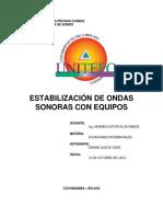 Dennis Queca Cadiz - Estabilización de Ondas Sonoras Con Equipos