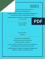 Prosecution Memorial Format 2
