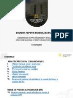 REPORTE MENSUAL DE INFLACIÓN 2019 08