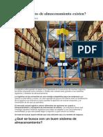 Metodos de Almacenamiento en Logistica Empresarial