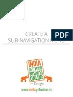 Creating Sub Nevigation Menu in Hostegater sitbuilder