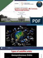 Week-2 Module-4 Salient Characteristics of Landsat, IRS, Cartosat, ResourceSat Sensors