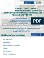Perceptions about climate change - how they influence vulnerability to poverty - presentation