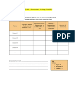 explore - assessment strategy checklist