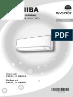 Toshiba split inverter manual IM RAS BKV-E