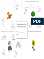 needs of living things activity