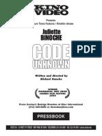 """""""Code Unknown"""" presskit"""