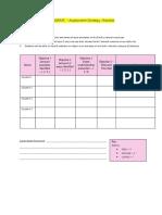 elaborate - assessment strategy checklist