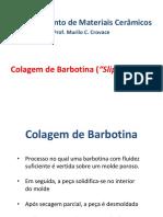 Aula- Colagem de Barbotina