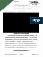 2018 - FISC Opinion - Judge Boasberg
