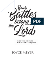 Your Battle belong to the Lord