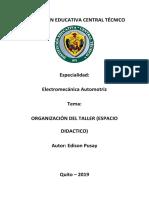 ORANIZACIÓN DE TALLER