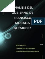 Analisis Del Gobierno de Francisco Morales Bermudez