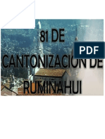 Cantonizacion de Rumiñahui