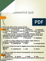 Summative Quiz in Animal Production 7