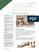 Festival estudiantil de música 2019