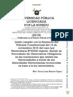 La UNCP-respetó el Precedente de Observancia Obligatoria- Caso Ley Universitaria N°30220 del TC